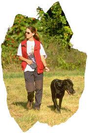 woman-walking-dog